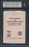 Magic Johnson & Kareem Abdul-Jabbar Signed 1984-85 Star Arena #D9 AS (BGS Encapsulated) at PristineAuction.com