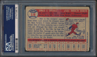 Don Drysdale Signed 1957 Topps #18 RC (PSA Encapsulated) at PristineAuction.com