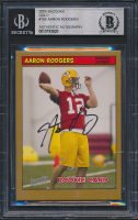 Aaron Rodgers Signed 2005 Bazooka Gold #190 (BGS Encapsulated) at PristineAuction.com