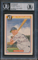 Mickey Mantle Signed 1983 Donruss HOF Heroes #7 (BGS Encapsulated) at PristineAuction.com