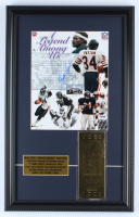 Walter Payton Signed Bears 13x20.5 Custom Framed Photo Display with Super Bowl XX 23kt Gold Ticket (PSA LOA) at PristineAuction.com