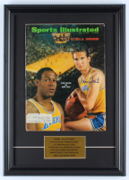 "Jerry West Signed ""Sports Illustrated"" 13x18 Custom Original Full Vintage Framed Magazine Display (JSA COA) at PristineAuction.com"
