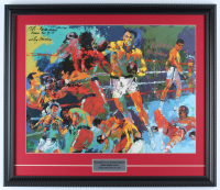 "Leroy Neiman ""The Rumble in the Jungle"" 18x21 Custom Framed Print Display at PristineAuction.com"