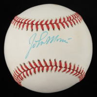 John Morris Signed ONL Baseball (JSA COA) (See Description) at PristineAuction.com