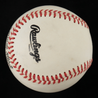 Willie Mays Signed ONL Baseball with Display Case (JSA ALOA) (See Description) at PristineAuction.com