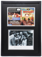 """""""Hoosiers"""" 16x22 Custom Framed Photo Display SIgned By (6) With Wade Schenck, Steve Hollar, Brad Long, Angelo Pizzo, Bobby Plump (Beckett LOA) at PristineAuction.com"""