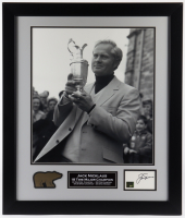 Jack Nicklaus Signed 23x27 Custom Framed Index Card Display (Beckett LOA & Nicklaus Hologram) (See Description) at PristineAuction.com