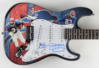 Thurman Thomas, Jim Kelly, & Andre Reed Signed Bills Electric Guitar (Beckett COA) (See Description) at PristineAuction.com