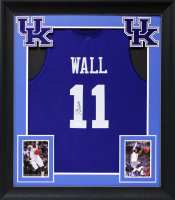John Wall Signed 32x37 Custom Framed Jersey Display (JSA COA) at PristineAuction.com