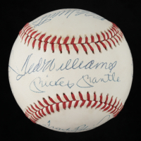 500 Home Run Club ONL Baseball Signed by (11) with Ernie Banks, Ted Williams, MIckey Mantle, Willie Mays, Reggie Jackson, Hank Aaron (JSA ALOA) at PristineAuction.com