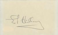 Edmund Hillary Signed 3x5 Index Card (JSA COA) (See Description) at PristineAuction.com
