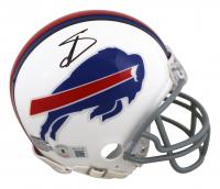 Stefon Diggs Signed Bills Mini-Helmet (Beckett Hologram) at PristineAuction.com