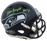 "Steve Largent Signed Seahawks Speed Mini-Helmet Inscribed ""HOF '95"" (Beckett COA) at PristineAuction.com"