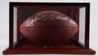 "Ezekiel Elliott & Dak Prescott Signed 2016 Official NFL ""The Duke"" Draft Logo Game Ball with High-Quality Display Case (JSA LOA) at PristineAuction.com"