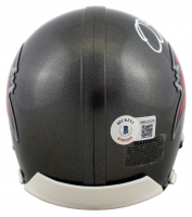 Mike Alstott Signed Buccaneers Mini-Helmet (Beckett Hologram) at PristineAuction.com
