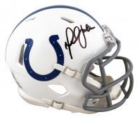Marshall Faulk Signed Colts Speed Mini-Helmet (Beckett Hologram) at PristineAuction.com