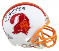 Derrick Brooks Signed Buccaneers Throwback Mini-Helmet (Beckett Hologram) at PristineAuction.com