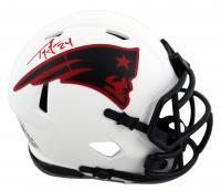 Ty Law Signed Patriots Lunar Eclipse Alternate Speed Mini-Helmet (Beckett Hologram) at PristineAuction.com
