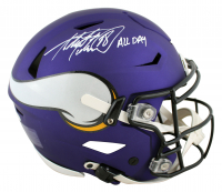 Adrian Peterson Signed Vikings Full-Size Authentic On-Field SpeedFlex Helmet (Beckett COA) at PristineAuction.com