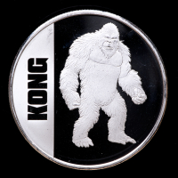 2021 Niue Godzilla vs Kong 1 oz Silver $2 Two Dollar Kong Coin at PristineAuction.com