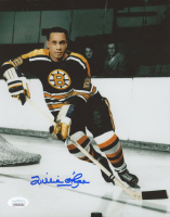 "Willie O""Ree Signed Bruins 8x10 Photo (JSA COA) at PristineAuction.com"