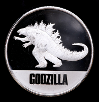 2021 Niue Godzilla vs Kong 1 oz Silver $2 Two Dollar Godzilla Coin at PristineAuction.com
