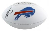 Stefon Diggs Signed Bills Logo Football (Beckett Hologram) at PristineAuction.com