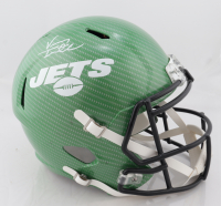 Vinny Testaverde Signed Jets Full-Size Hydro-Dipped Speed Helmet (JSA COA) (See Description) at PristineAuction.com