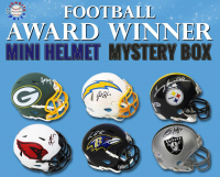 Schwartz Sports Football Award Winner Signed Mini Helmet Mystery Box – Series 3 (Limited to 100) at PristineAuction.com