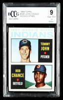 Tommy John / Bob Chance 1964 Topps #146 Rookie Stars RC (BCCG 9) at PristineAuction.com