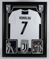 Cristiano Ronaldo Signed 34.5x42.5 Custom Framed Juventus Jersey Display (Beckett COA) (See Description) at PristineAuction.com