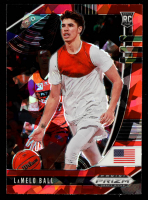 LaMelo Ball 2020-21 Panini Prizm Draft Picks Prizms Red Ice #43 at PristineAuction.com