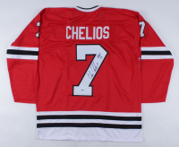 """Chris Chelios Signed Jersey Inscribed """"HOF 13"""" (Beckett COA) at PristineAuction.com"""