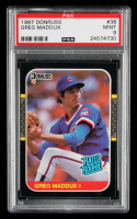 Greg Maddux 1987 Donruss #36 RC (PSA 9) at PristineAuction.com