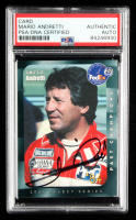 Mario Andretti Signed 1992 Collect-A-Card Andretti Racing #90 (PSA Encapsulated) at PristineAuction.com