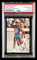 Carl Lewis Signed 1992 Classic World Class Athletes #58 Life in the Fast Lane (PSA Encapsulated) at PristineAuction.com