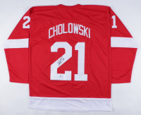 Dennis Cholowski Signed Jersey (Beckett COA) at PristineAuction.com