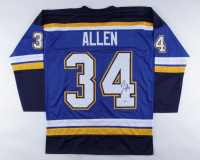 Jake Allen Signed Jersey (Beckett COA) at PristineAuction.com