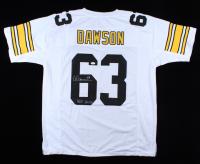"Dermontii Dawson Signed Steelers Jersey Inscribed ""HOF 2012"" (JSA COA) (See Description) at PristineAuction.com"