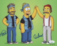 """Tommy Chong & Cheech Marin Signed """"The Simpsons"""" 8x10 Photo (JSA COA) at PristineAuction.com"""