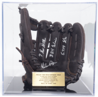 Nolan Ryan Signed Rawlings Baseball Glove With (3) Career Stat Inscriptions with Display Case (PSA COA) at PristineAuction.com