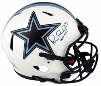 "Michael ""Playmaker"" Irvin Signed Cowboys Full-Size Authentic On-Field Lunar Eclipse Alternate Speed Helmet Inscribed ""HOF 2007"" (Beckett Hologram) at PristineAuction.com"