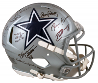 "Cowboys Full-Size Authentic On-Field Speed Helmet Signed by (11) with Roger Staubach, Tony Dorsett, Drew Pearson, Emmitt Smith Inscribed ""Ring of Honor"" (Beckett Hologram & Prova COA) at PristineAuction.com"