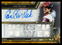 Carlton Fisk 2020 Topps Triple Threads Autograph Relics Gold #TTARCF3 at PristineAuction.com
