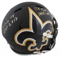"Willie Roaf Signed Saints Full-Size AMP Alternate Speed Helmet Inscribed ""HOF 2012"", ""11x Pro Bowl"" & ""1990's All Decade"" (Beckett Hologram) at PristineAuction.com"