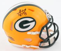 Allen Lazard Signed Packers Speed Mini Helmet (JSA COA) at PristineAuction.com