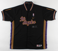Magic Johnson Signed Lakers Warm-Up Jacket (PSA COA) at PristineAuction.com