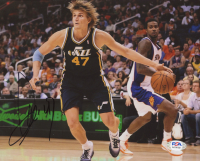Andrei Kirilenko Signed Jazz 8x10 Photo (PSA COA) at PristineAuction.com