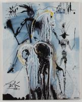 "Salvador Dali ""Don Quixote"" Sold Out Limited Edition 8x10 Glazed Ceramic Tile at PristineAuction.com"