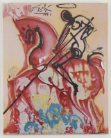 """Salvador Dali """"St. George and The Dragon"""" Sold Out Limited Edition 8x10 Glazed Ceramic Tile at PristineAuction.com"""
